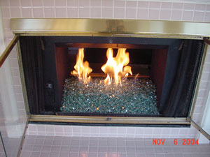 Gallery For Gas Fireplace Inserts Rocks