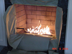 Fireplace glass installation for Firerock fireplace cost